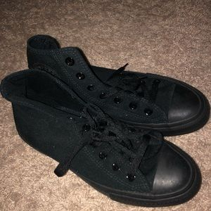 brand new black high top converse